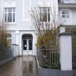 Der Eingang zu Graf Luckners Wohnhaus in Hamburg