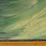 Canvas signed by von Luckner / Luckners Unterschrift auf dem Gemälde