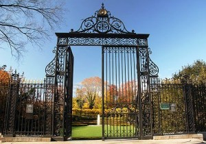 Gate to the garden of Vanderbilt's home