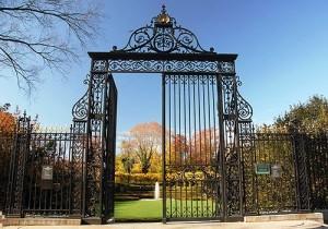 Gate to the garden of Vanderbilt's home