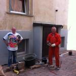 Working at the von Luckner Vault / Arbeiten am Luckner Gewölbe