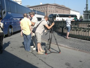 Filming at St. Petersburg / Drehtag in St. Petersburg