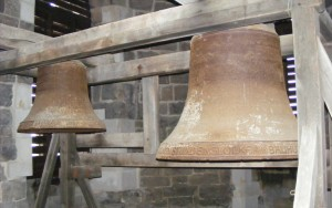 Historic bells in the Red Tower of Halle, not ringing anymore / Historische Glocken im Roten Turm zu Halle, diese klingen nicht mehr.